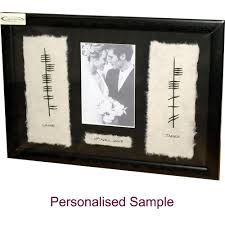 personalised ogham wedding photo frame
