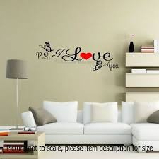 Ps I Love You Bedroom Wall Stickers For Adults Romantic Wall Sticker Decor Ebay