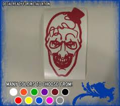 7 Bloody Art The Clown Vinyl Sticker Terrifier Movie Horror Car Window Decal Ebay