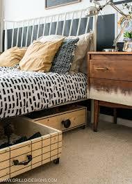 scandi style wooden diy under box