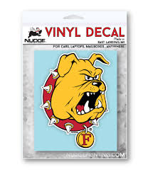 Ferris State University Bulldog Car Decal Nudge Printing