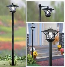 5 ft tall solar powered 2 in 1 outdoor
