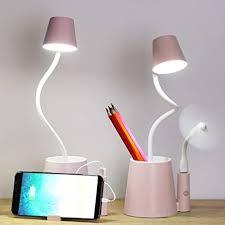 Desk Lamp Kids Small Usb Rechargeable Student Cute Led Eye Protection Table Lamp Dimmable Touch Control