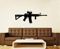Ar 15 Gun Rifle Vinyl Wall Decal Sticker Graphic Etsy