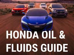 honda oil and fluid information