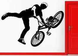 Wall Stickers Vinyl Decal Bmx Bike Biker Bicycle Extreme Sport Decor U Wallstickers4you
