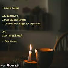 tentang cahaya kau bende quotes writings by zahra mehveen