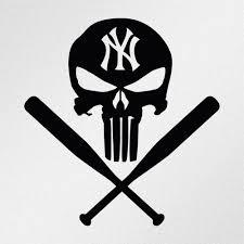 Punisher Newyorkyankees Baseball Punisher New York Yankees Vinyl Decal Stickers