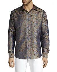 Robert Graham Limited Edition Silk Paisley Shirt 3xl for sale online | eBay