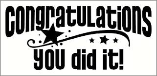 Wall Decor Plus More Wdpm3454 Congratulations You Did It With Stars Vinyl Wall Decal Graduation Art 23 X 10 Black Amazon Com