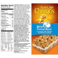 nutritional facts for honey nut