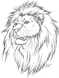 Image Detail For Lion Tattoo Lineart Version By Wickedryu