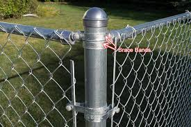 Chain Link Fence Brace Band For Horizontal Rail Installation
