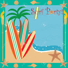 Surf Party Invitation Royalty Free Cliparts Vectors And Stock