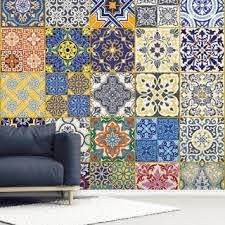 Turkish Tiles Wall Mural Wallsauce Us
