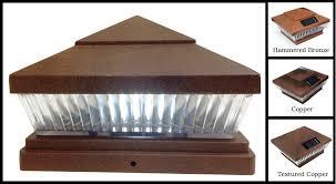 5 X 5 Or 6 X 6 Premium Pvc Vinyl Fence Copper Post Cap Solar Lights 5 Leds Pf87c Return Processing Center