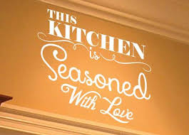This Kitchen Is Seasoned With Love Wall Decal 0007 Kitchen Wall Deca Wall Decal Studios Com