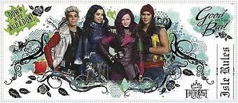 Disney Descendants Isle Of The Lost Wall Decals Room Decor Stickers Evie Mal New 17 99 Picclick