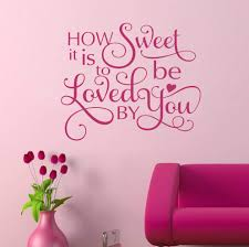 Bedroom Decal Loved By You Romantic Vinyl Wall Lettering