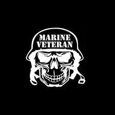 Marine Veteran Skull Military Window Decal Stickers Marine Veteran Veteran Marine