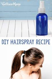 homemade natural hairspray recipe