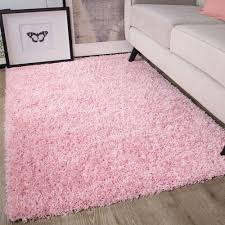 Baby Pink Shaggy Rug Non Shed Thick 50mm Pile Soft Fluffy Bedroom Rug Kids Rugs 50mm Baby In 2020 Fluffy Rug Bedroom Rug Pink Rug