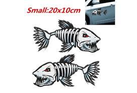 2pieces Fish Skeleton Decals Sticker Fishing Boat Canoe Kayak Graphics Accessories Wish