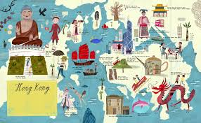 "Hong Kong map for ""City Atlas"" – Martin Haake Illustrations"