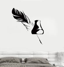 Wall Decal Pen Ink Writer Story Literature Vinyl Sticker Unique Gift Z Wallstickers4you