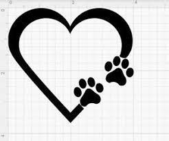 Paw Print Heart 3 Die Cut Vinyl Decal Car Window Sticker Puppy I Love My Dog Ebay