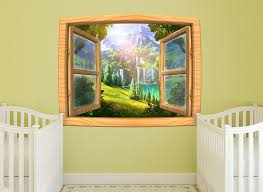 Enchanted Forest Window Wall Decal