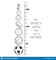 Kids Height Ruler With Balls For Wall Decals Wall Stickers Vector Stock Vector Illustration Of Label Pattern 164100831