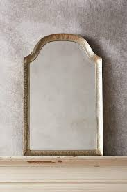 mille hammered gold arched mirror