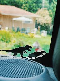 T Rex Jeep Easter Egg Vinyl Window Decal Black Tyrannosaurus Etsy