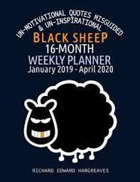 black sheep month weekly planner un motivational