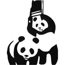 Wwf Panda Bear Wrestling Vinyl Decal Sticker