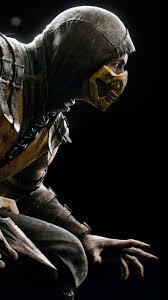 Download Wallpaper 720x1280 Mortal Kombat Scorpion Hero Costume
