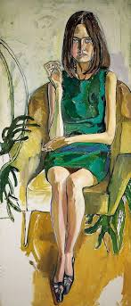 Priscilla Johnston by Alice Neel (American), oil on canvas, genre:  Expressionism, 1966 #PriscillaJohnston #AliceNeel | Art, Figure painting,  Portrait art