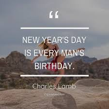 new year s day is every man s birt charles lamb about birthday