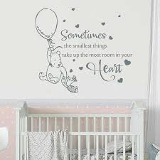 Winnie The Pooh Wall Decal Sometimes The Smallest Things Quotes Vinyl Sticker Nursery Kids Bedroom Baby Room Home Decor S851 Wall Stickers Aliexpress