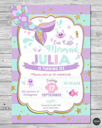 Details About Little Mermaid Invitations Invite 1st First Birthday Party Supplies Pool Ocean Invitaciones De Cumpleanos De Sirena Fiesta De Cumpleanos De Chicas Invitaciones Digitales