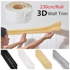 3d Self Adhesive Wall Trim Line Border Stickers Waterproof Diy Home Wallpaper 230x8cm Wish