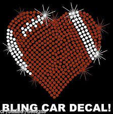 Sports Mom Soccer Heart School Rhinestone Bling Sparkle Car Decal Sticker 50 02