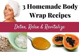 3 homemade body wraps detox relax