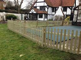 Rounded Picket Fence Panels 5ft X 6ft Natural Berkshire Fencing