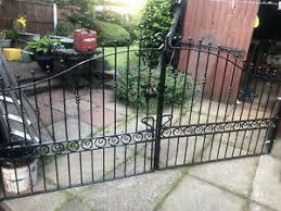 Iron Gate Posts In Garden Fence Gates For Sale Ebay