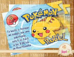 Invitacion Imprimible Pokemon 60 00 En Mercado Libre