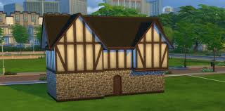 build a tudor house in the sims 4
