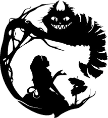 Alice In Wonderland Wall Decal Matte Black 22 X24 Cheshire Cat Mad Hatter Ebay