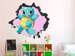 Pokemon Xy Wall Stickers Pikachu Pokeball Boys Room Decor Decals